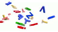 Alphabet Letters Background Loop - Primary Colors (Full HD) video