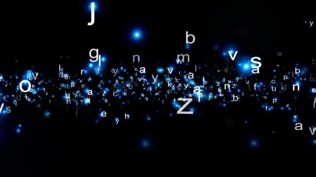 Alphabet particles soup video