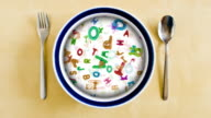 Alphabet soup plate video