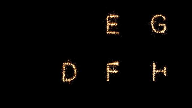 Alphabet sparkler video