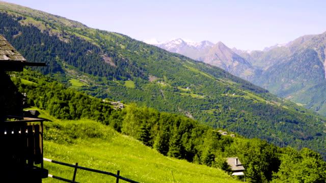 Alpine meadows in Switzerland. video