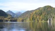 Alpsee in Fall, sea in Hohenschwangau near Munich video