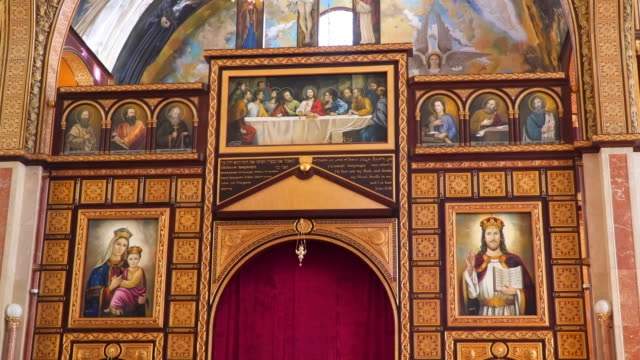 Altar in the Coptic Christian Church in Egypt video