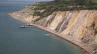 Alum Bay Isle of Wight beautiful beach and rocks video