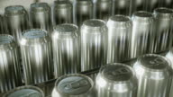 Aluminium cans production line. Looping. video