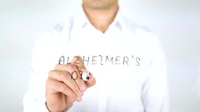 Alzheimer's Disease, Man Writing on Glass video