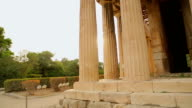 Amateur video of ancient Hephaestus Temple shot by tourist on video