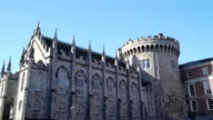 Amazing architecture of the Dublin castle in Ireland video