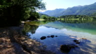 Amazing Bohinj Lake in the morning. Clear water with fish and gorgeous landscape of Bohinj valley in Julian Alps. Triglav National Park, Slovenia, Europe. video