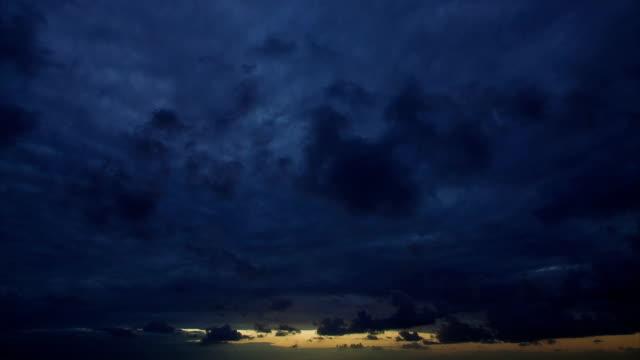 Amazing cloudy sunrise time lapse video
