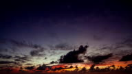 Amazing cloudy sunset time lapse video