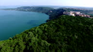 Amazing Geography High Above Lake Travis Flying Over Mansions and Circling Around Texas Hill Country With Lake View video