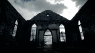 Amazing God Rays of Light Into an Abandoned Old Church Ruins video