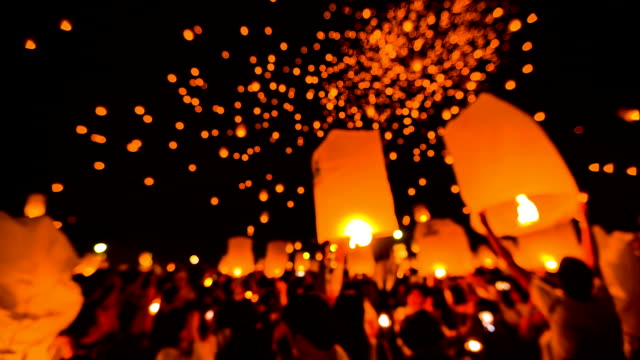 Amazing Loi Kra Tong festival in Thailand video