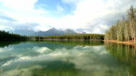 Amazing mountain lake scenery video