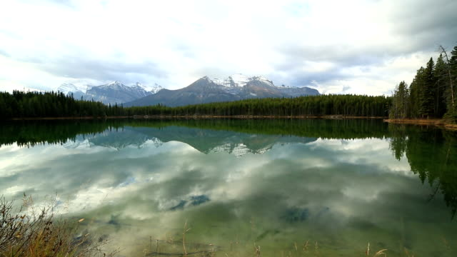 Amazing mountain lake scenery video