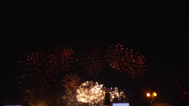 Amazing street fireworks video