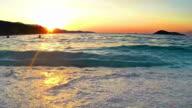Amazing Sunset At Sea. HD LOOP Stock video video