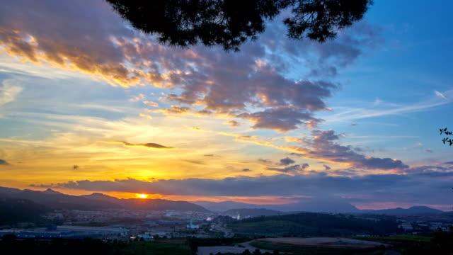Amazing sunset - Llobregat Valley video