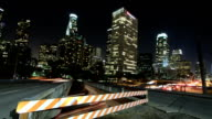 Amazing Timelapse Rising Shot over Busy LA Freeway and Overpass video