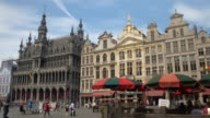 CLOSE UP: Amazing Town Hall, a popular crowded touristic spot at Grand Place video