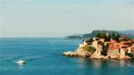 Amazing view of Sveti Stefan in Montenegro, Budva video