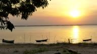 Amazon river sunset video