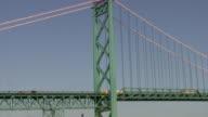 Ambassador Bridge between Detroit, Michigan, USA and Windsor, Ontario, Canada. video