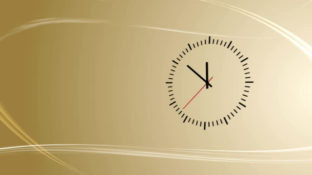 Amber background with abstract wind and clock video