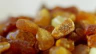 Amber stone macro rotate video