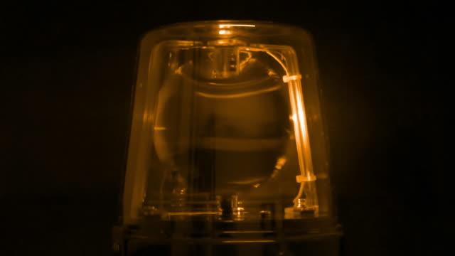 Amber Warning Signal Light video