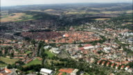 Amberg  - Aerial View - Bavaria,  Upper Palatinate,  Kreisfreie Stadt Amberg helicopter filming,  aerial video,  cineflex,  establishing shot,  Germany video
