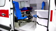 Ambulance car cabin video