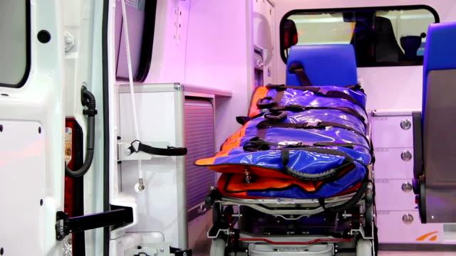 Ambulance car cabin video