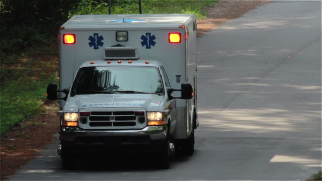 Ambulance Close Up while responding to emergency video