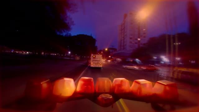 Ambulance ligths video