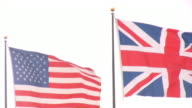 American and Great Britain Flags video