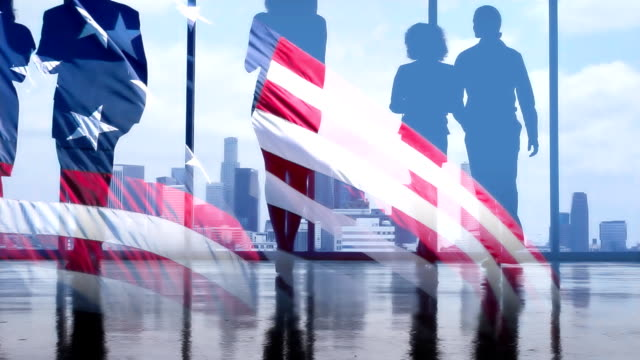 American Business Flag video