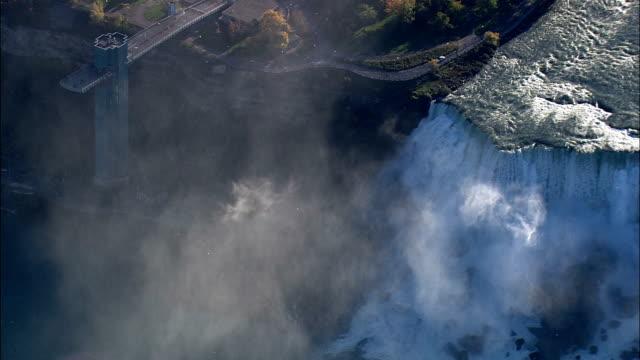 American Falls - Aerial View - New York,  Niagara County,  United States video