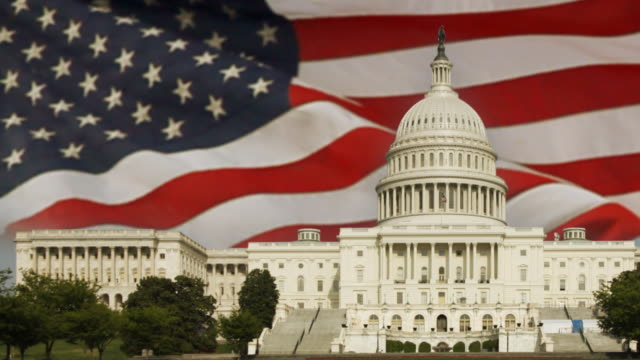 American Flag and Capital Building video