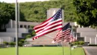 American flag at Military Memorial Cemetery video