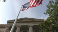 American Flag at the Justice Department, Washington DC--HD video