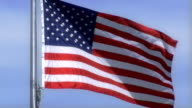 American Flag blowing in the wind video