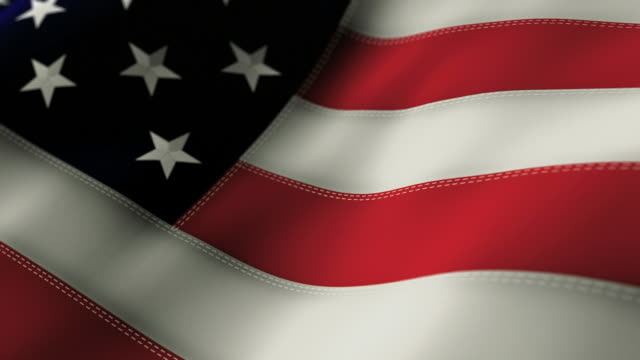 American Flag Close Up - Looping video