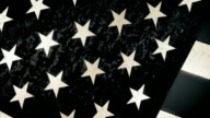 American Flag  Close Up - Sketched Style video