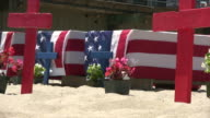 (HD1080i) American Flag Coffins, Zoom In and Out video