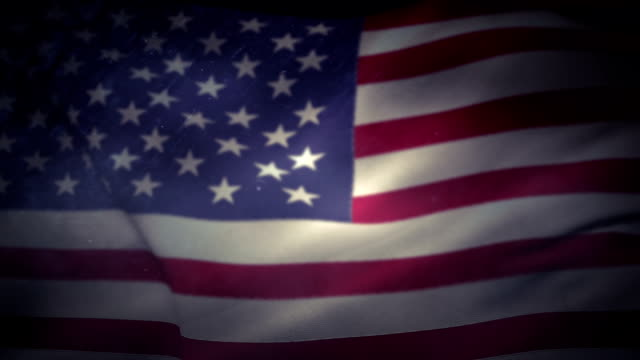 American flag floating in the air video