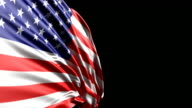 American Flag HD, PAL, NTSC, alpha included, looping video