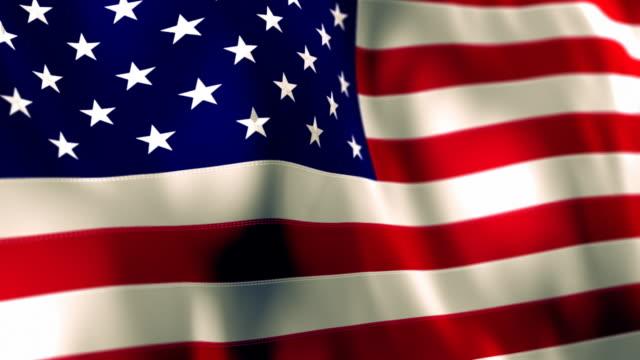 American Flag High Detail - Looping video