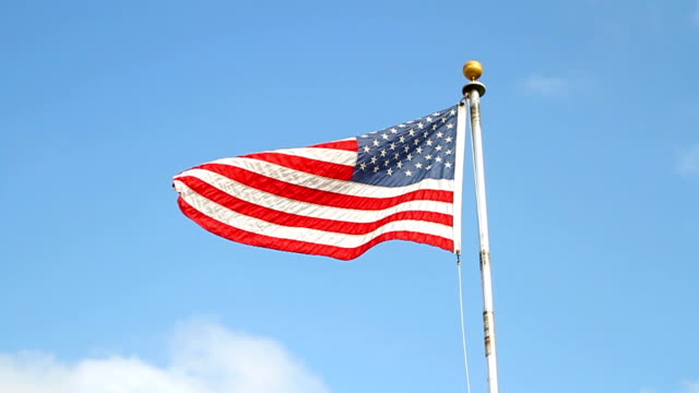 American flag in the wind video